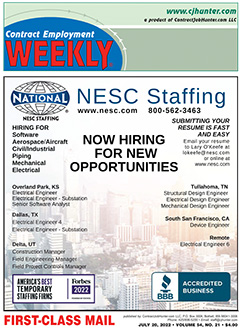 Cover of Contract Employment Weekly Magazine, Click for Sample PDF